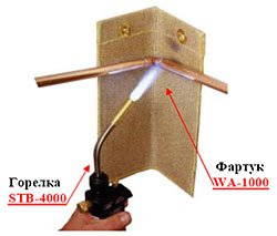 Горелка STB-4000, фартук WA-1000